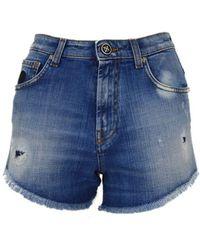 John Richmond Denim Shorts Brunz - Blue