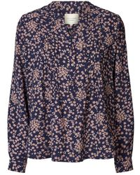 Lolly's Laundry Lollys Laundry Helena Navy Floral Blouse - Blue