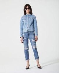 AG Jeans Ag Women's Lgn1575 Ex-boyfriend Slim Jeans - Blue