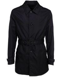 Prada Men's Sgb556s2021wq8f0002 Black Cotton Trench Coat