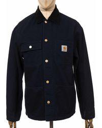 Carhartt Wip Michigan Coat - Dark Navy Colour: Dark Navy (rinsed), Siz - Blue