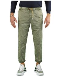 White Sand Other Materials Pants - Green