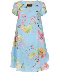 James Lakeland Pale Blue Floral Dress