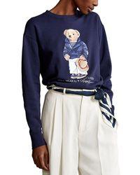 Ralph Lauren Women's 211827921001 Blue Cotton Sweatshirt