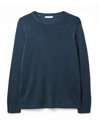 White Stuff Ladies Shimmer Jumper - Blue