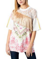 Desigual Women's 20swtkciwhite White Cotton T-shirt