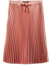 Maison Scotch - Shiny Pleated Skirt Pink - Lyst