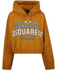 DSquared² Women's S75gu0316s25030166 Yellow Cotton Sweatshirt