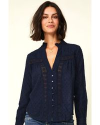 Aspiga Carrie Organic Cotton Blouse   Midnight - Blue