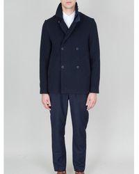 Folk Folk Double Breasted Overcoat - Blue