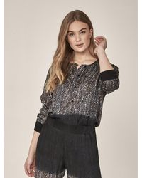 NÜ Ina Blouse In Statue Mix - Grey