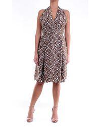 Eleventy Dress Short Cream And - Brown