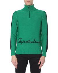 Off-White c/o Virgil Abloh High-neck Half-zip Jumper - Green