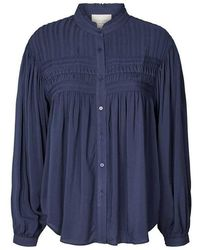 Lolly's Laundry Cara Blouse In Dark Blue