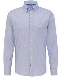 Fynch-Hatton Fynch-hatton Shirts Fyn .11216110 Lbl.11216110 - Blue