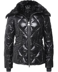 Barbour Upfield Quilted Faux Fur Collar Jacket Colour: Black