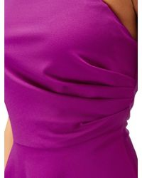 Adrianna Papell - Knit Crepe Fit And Flare In Deep Berry - Lyst