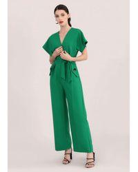 Closet Green Kimono Wrap Top Jumpsuit