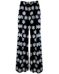 PHOEBE GRACE Peggy Wide Leg Palazzo Trouser In Our Black And White Daisy Print