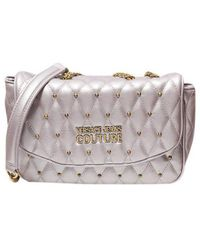 Versace Jeans Couture - Quilted Shoulder Bag With Studs - Lyst