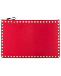 Valentino Garavani Women's Vw2p0269vshju5 Red Leather Pouch