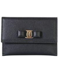 Ferragamo Wallet With Logo - Black