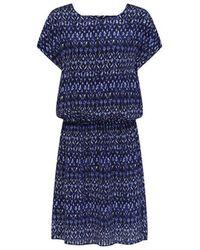 Mercy Delta Hembury Dress Ikat Bell - Blue