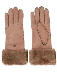 EMU Apollo Bay Chestnut Sheepskin Gloves W9405 - Brown