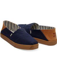 TOMS Convertible Alpargata Textured Twill Navy - Blue