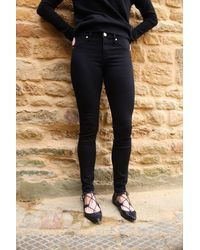 2nd Day Jolie Cropped Boss Trouser - Black