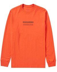Maharishi Long Sleeve Miltype Tee | - Orange
