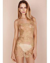 Gilda & Pearl Harlow Lace Slip Gold - Metallic