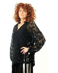 8pm Shirt In Lace - Black