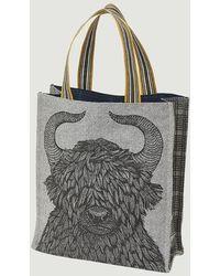 Inouitoosh Street Yaco Fabric Tote Bag Noir - Black