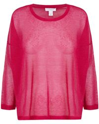 INTROPIA Oversized Knit Jumper - Pink