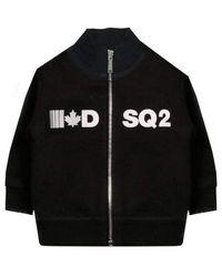 DSquared² Zip Jumper - Black