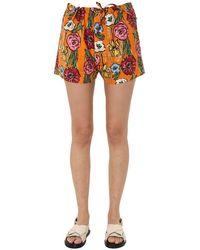 Marni Women's Pamar05a00tcy79lir17 Orange Other Materials Shorts