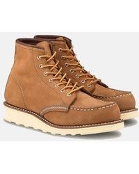 "Red Wing Women's 6"" Moc Toe Boots (3372) - Khaki Honey Chinook - Brown"
