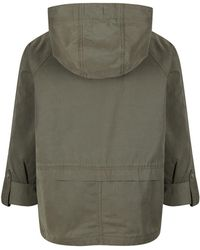 Parka London Women's Issy Cropped Spring Parka - Green