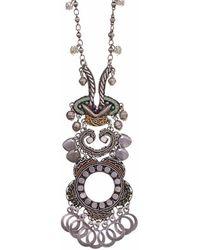 Ayala Bar Nel's Indigo Metal Light Necklace - Metallic