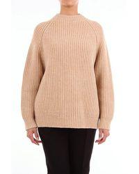 Marni Camel-colored Crew Neck Sweater - Brown