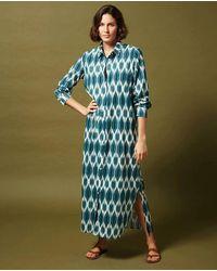 Hartford Reaction Ikat Dress - Blue