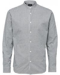 SELECTED Slimgab Shirt - Blue