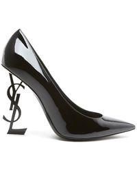Saint Laurent Saint Laurent Women's 4720110npvv1000 Black Leather Court Shoes