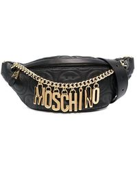 Moschino Smiley Face Logo Belt Bag - Black