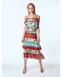 Hayley Menzies Enchanted Leopard Midi Frill Skirt - Multicolour