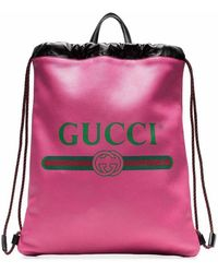 Gucci Fuchsia Leather Backpack - Pink