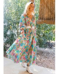 Miss June Floralies Dress Pastel - Green