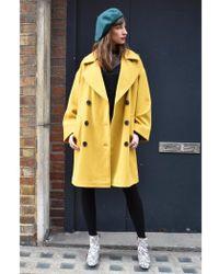 Native Youth - Creator Oversized Mustard Overcoat - Lyst