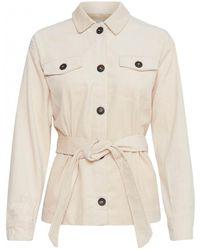 Ichi - Bea Cream Cord Jacket - Lyst